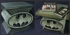 Custom Design Batman Bat Symbol Coffee Table 6 Comic Book Art Coffee Tables