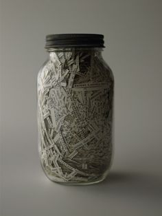 Book in a jar- contest to guess the book.  Good use for old classics that you weed. Image only.