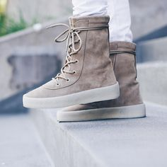 """YEEZY Season 2 Crepe Boot """"Taupe"""" Yeezy Season 2, Vintage Outfits, Vintage Fashion, Yeezy By Kanye West, Skate Wear, Fashion Articles, Urban Outfits, Taupe, High Top Sneakers"""