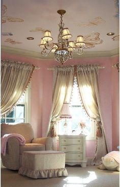 Butterfly nursery by Joy Matheson (subtract a little this and that n would be a beautiful feminine room)