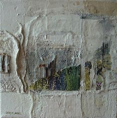 Hiver (Winter) by Denys Arel - Mixed media on canvas 20 cm x 20 cm