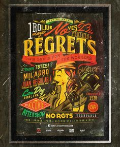 No Regrets Workers' Day Flyer by Overloaded design, via Behance