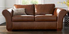 Buy Ledbury Leather Large Sofa (3 Seats) Santiago Mid Brown Dark   Next
