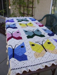 butterfly granny squares | Recent Photos The Commons Getty Collection Galleries World Map App ...