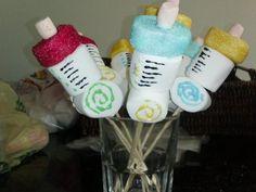 Baby shower: #centros de mesa con #dulces y bombones | Blog de BabyCenter
