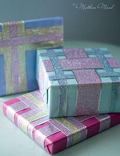 glitter ribbon wrapped gifts matthew mead