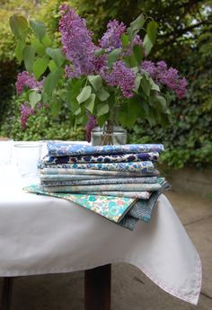 Want to make these liberty of london napkins from the purl bee. Purlsoho.com