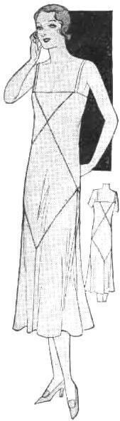1930s bias underdress - I'm so in love with vintage undergarment patterns.