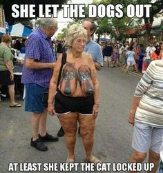 she let the dog out