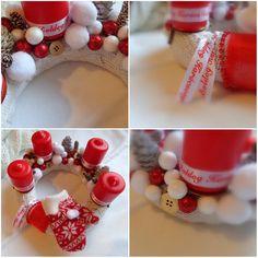 #advent #adventskranz #homemade #white #red #christmas #december