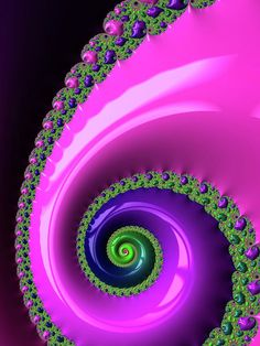 Pink purple and green Fractal Spiral Art Print by Matthias Hauser. All prints are professionally printed, packaged, and shipped within 3 - 4 business days. Choose from multiple sizes and hundreds of frame and mat options. Art Prints For Sale, Fine Art Prints, Framed Prints, Spiral Art, Canvas Art, Canvas Prints, Wow Art, Thing 1, Fractal Art