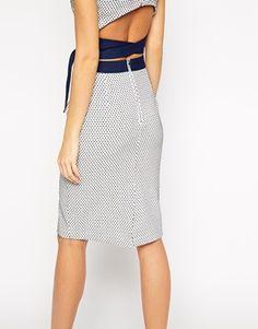 Enlarge Lavish Alice Pencil Skirt in Polka Dot