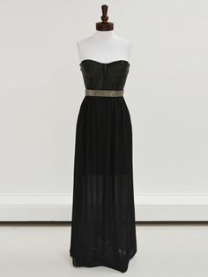 Alice + Olivia Mariah Bustier Belted Maxi Dress