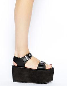 Image 4 ofYRU Orion Black Platform Sandals
