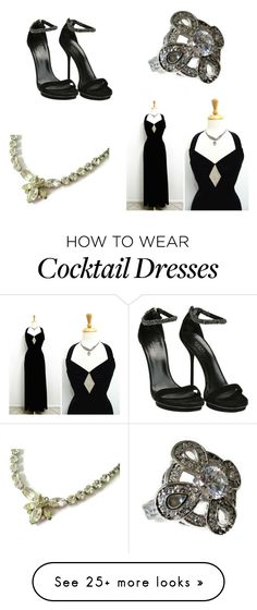 """""""Prom Princess in Black"""" by weelambievintage on Polyvore featuring Gucci and vintage"""