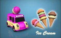 Ice Cream Van - Autodesk 3ds Max,OBJ,STL - 3D CAD model - GrabCAD