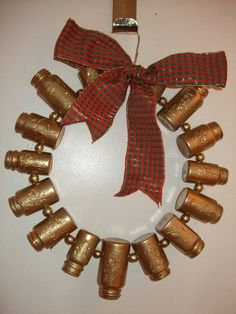 pill bottle wreath