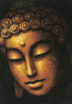 The Buddha deep in contemplation Buddha Face, Buddha Zen, Buddha Buddhism, Buddhist Art, Buddha Artwork, Buddha Painting, Pintura Zen, Buddha Kunst, Meditation