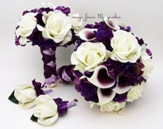 Bridal Bouquet Real Touch Picasso Callas by SongsFromTheGarden