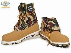 Mens Timberland Roll Top Boots Light Khak-$122