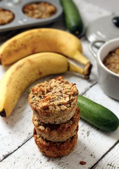 35. Banana Zucchini Oatmeal Cups #healthy #breakfast #recipes https://greatist.com/health/healthy-fast-breakfast-recipes