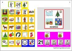 Libro de comunicación aumentativa y alternativa sobre el Invierno. Autores: J. M. Marcos y D. Romero. Pictogramas ARASAAC, elaborados por Sergio Palao.