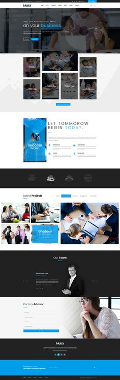 Malia - Finance, Business & Consulting PSD Template by creative-wp