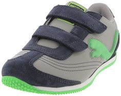 PUMA Speeder Illuminescent V Suede Fashion Sneaker (Toddler/Little Kid/Big Kid) Puma. $44.45. Removable Kinder-Fit® footbed. He'll be steady on his feet in this fun light-up sneaker. Rubber sole. Dual hook and loop closures for easy on/off. synthetic. Synthetic leather upper with suede overlays. Lateral PUMA cat logo lights up with every step