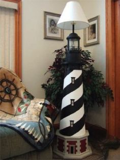 Cape Hatteras Deluxe Floor Lamp Lighthouse Decor:Amazon:Everything Else
