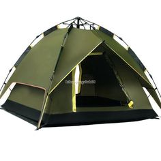 Automatic Instant Outdoor Pop up Family Large Tent for 4 People Hiking C&ing  sc 1 st  Pinterest & Ozark Trail 15 Person Instant Cabin Large Tent Camping Split Plan ...