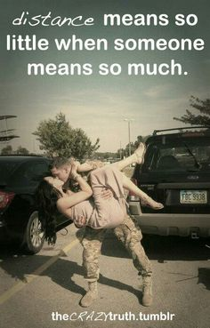 Distance means so little when someone means so much. Troops :)