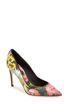 Dolce&Gabbana+'Peony'+Pointy+Toe+Pump+(Women)+available+at+#Nordstrom