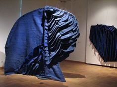 Sculptural installation of Buic's textile work #buic #fiber #art
