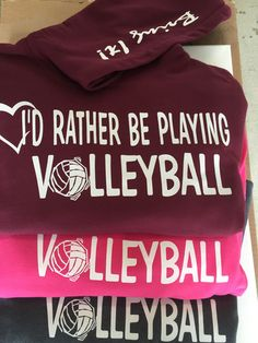 I'd Rather Be Playing Volleyball Hooded Sweatshirt