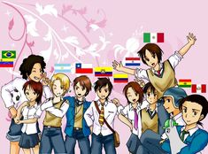 Hetalia ~~~ The Latino countries ::: Is that Peru with the llama? Yolo, Argentina Country, Latin Hetalia, Bad Touch Trio, Kevedd, Hetalia Funny, Hetalia Characters, Mundo Comic, A Series Of Unfortunate Events
