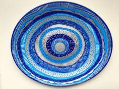 Decorative Plate -  Blue Mandala - Original hand-painted Artwork - Wall Hanging - Wall Décor - Evil Eye Decor - Wall Art - Decor Art by biancafreitas on Etsy