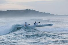 """Durban: The running of the Discovery Scottburgh to Brighton surfski race was completely dominated by the """"Cape storm"""" of former world champ Dawid. Brighton, South Africa, Skiing, Action, Boat, World, Places, The World, Group Action"""
