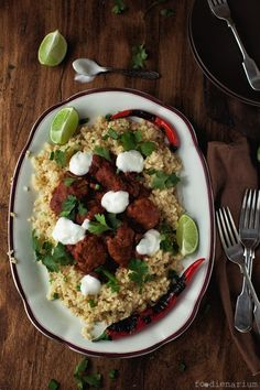 Jamie Oliver's 15 minute Chili Con Carne Meatballs (posted from foodinenarium):  Original recipe includes garam masala in the ground meat!  Must try!  (Could use brown rice to be gluten free)