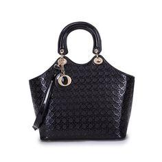 Papaya Black Patterned Handbag Discount Designer Handbags, Handbag Patterns, Lady Dior, Black Pattern, Handbag Accessories, Fashion, Bag Patterns, Moda, La Mode