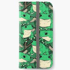 'Treefrog Bonanza' iPhone Wallet by spazzynewton Iphone Wallet, Iphone 6, Iphone Cases, Open Book, Frogs, 6s Plus, My Arts, Art Prints, Printed