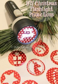 Here's a fun Christmas idea for kids - create these DIY Flashlight Projection crafts for your kids. Great for late nights waiting for Santa!#christmas#crafts