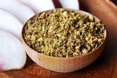 Dukka (also written dukkah) Recipe _ is an Egyptian spice blend that consists of herbs, and roasted nuts and seeds, and became popular worldwide.