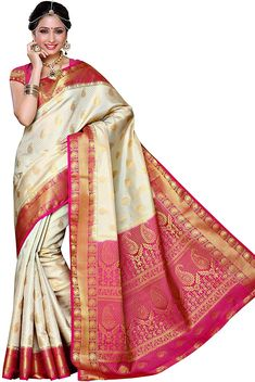 Industrious Indian Designer Chanderi Cotton Sari Traditional Wedding Embroidery Work Sari Gf Women's Clothing