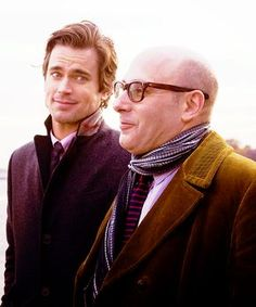 White Collar - Neal and Mozzie - Matt Bomer and Willie Garson// their expressions here. Haha. Perfect