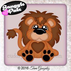 Snuggle Palz Lion Scrapbook Paper Crafts, Scrapbook Cards, Paper Piecing, Lion Design, Scroll Pattern, Cartoon Sketches, Cute Clipart, Pet Rocks, Felt Fabric