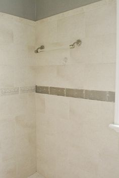 Replacing old shower border tiles home design pinterest border tiles glass and room for Update bathroom tile without replacing