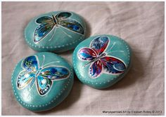 painted stones and clay by manysparrows art (6)