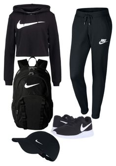 """NIKE"" by lazyfeed on Polyvore featuring NIKE"