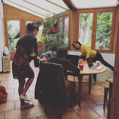 Le #cohoming à #fretin (#lille) chez Manon @manon_design ! #coworking #rural #freelance