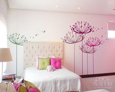 Ideas for my room . Bedroom Wall, Girls Bedroom, Bedroom Decor, Bedrooms, Bedroom Ideas, Diy Wall Painting, Decoration Design, Little Girl Rooms, New Room